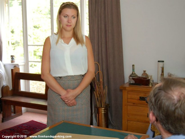 Belinda Lawson is in trouble in Marks out of Ten at Firm Hand Spanking
