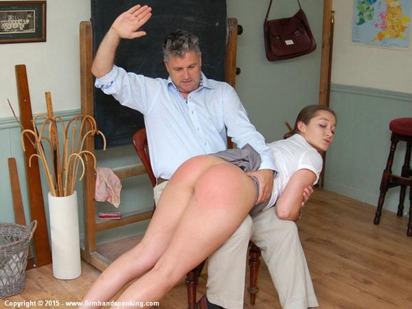 Dani Daniels gets her bare bottom spanked OTK by Richard Anderson in Legal Penalties