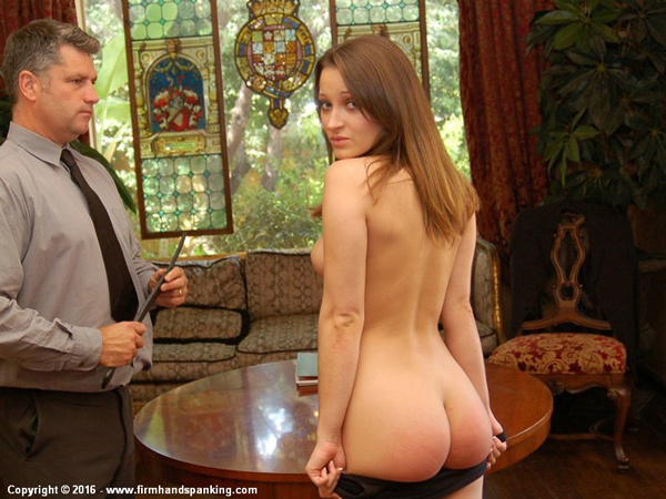 Dani Daniels bottoms as she gets a nude strapping