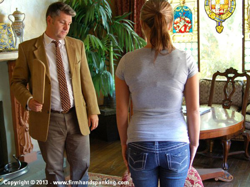 Hitting a teacher earns pretty Kelly Morgan a paddling in The Principal's Office