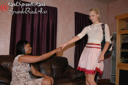 Amelia Jane Rutherford meets her tutor Lana for the first time