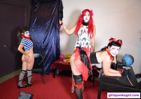 Nova gets paddled then Elori Stix gets caned at the clown school