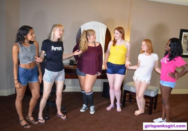 Cleo Divine, Clare Fonda, Christy Cutie, Alex reynolds, Stevie Rose and Nuna Starks in Spank Club