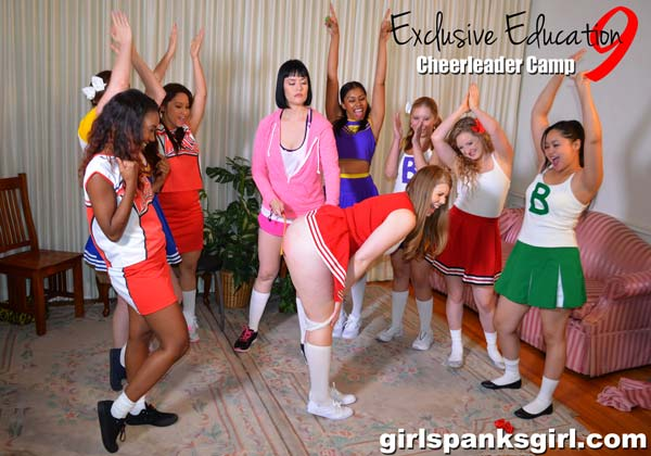 Cheerleader Christy Cutie gets caned by Snow Mercy in Exclusive Education 9