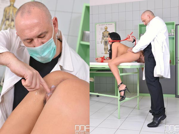 Exotic Anissa Kate spanked and ass fucked by kinky doctor