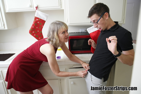 Jamie Foster sex scene with step son cuckolding her husband at xmas