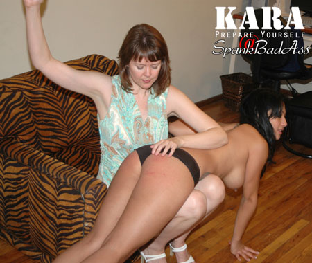The New Kara gets her First Proper OTK Spanking