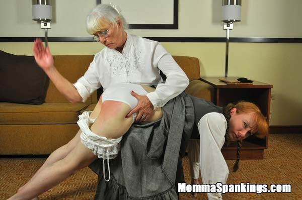 Over the knee spanking in literature: Anne of Red Bottoms