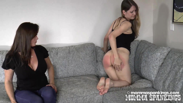 Chrissy Marie does corner time after her punishment at Momma Spankings