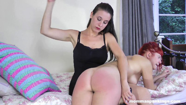 Rosie Ann gets a naked spanking before bedtime