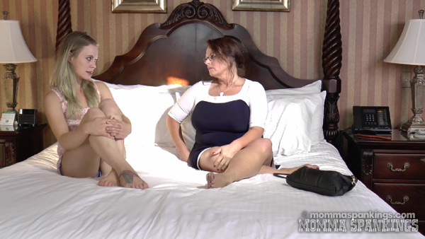 Stevie Rose is in trouble with momma, Miss Elizabeth at Momma Spankings