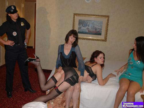 Jenni Mack gets spanked OTK by Clare