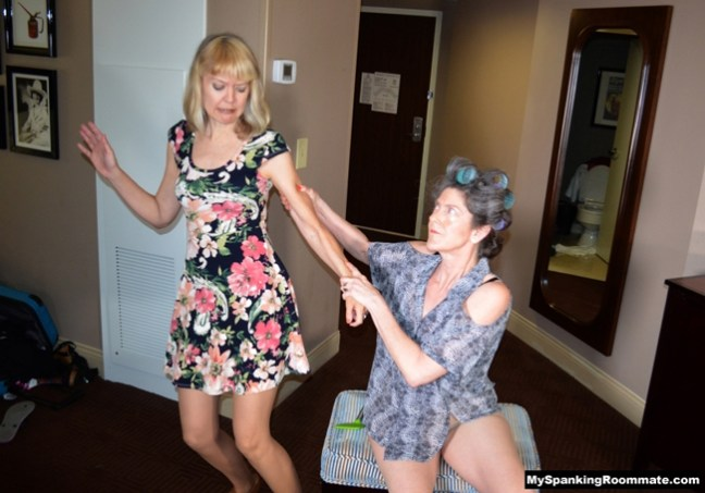 MILF Clare Fonda is in trouble with Samantha B at My Spanking Roommate