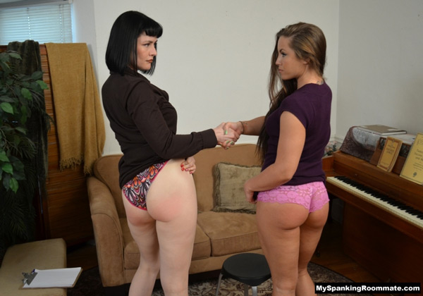 Madison Martin and Snow Mercy agree to become roommates after they have each spanked the other