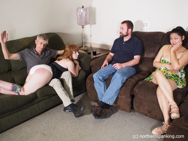 Ginger S and Koko Kitten each get spanked by their husbands as the other watches in Wayward Wives