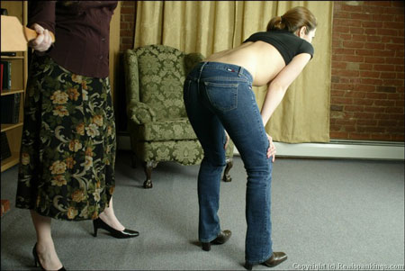 Busty bare-breasted Spankings: Paddlings and Strappings