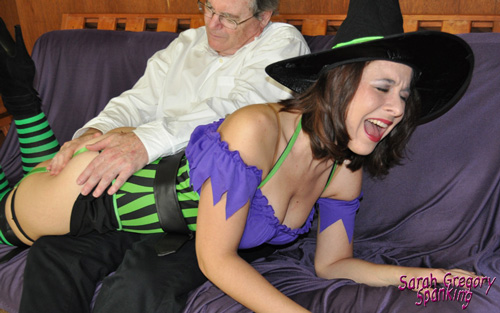 Sarah Gregory's Spellbound halloween spanking gallery