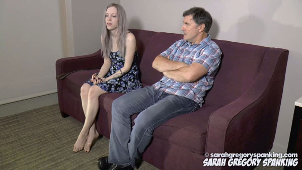 Violet October gets in trouble with her father after already being spanked by mom