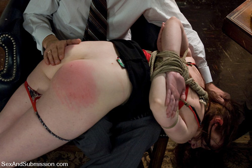 Amber Keen gets spanked hard OTK and assfucked