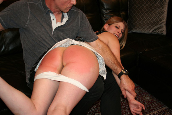 Steve Fuller spanks Harley Havik in Caught Red-Handed