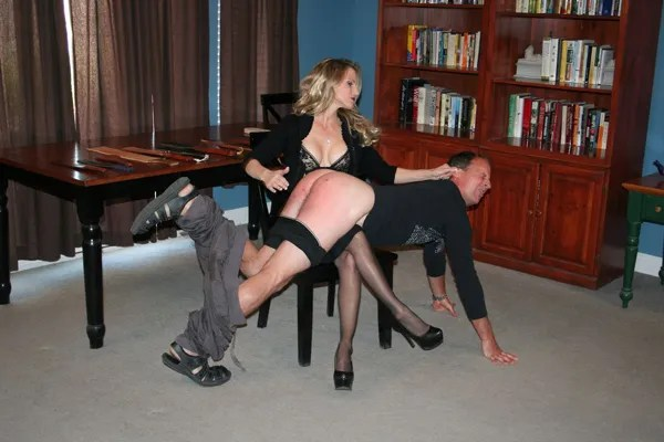 Mistress Aleana spanks Bart in Love, Worship and Submit femdom
