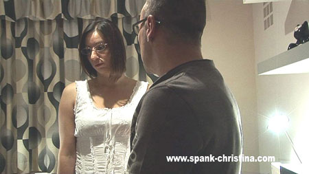 Office Caning for Naughty Christina Lee