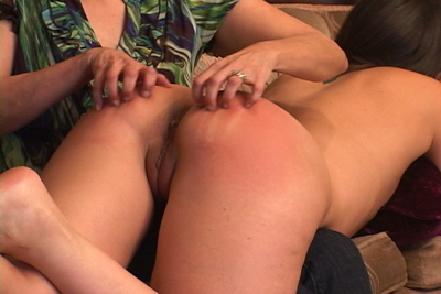 Chelsea drags her fingernails against Sinn's beautiful, sore, red bottom