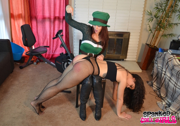 Veronica Ricci spanks AlexH in this St. Patrick's Day Spanking