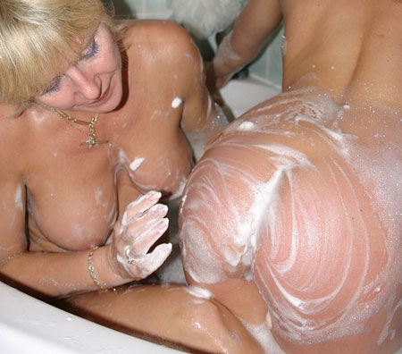 Lesbian Bathtime Spanking