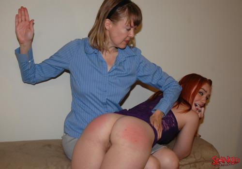 Dani Jensen gets spanked OTK on her bare bottom