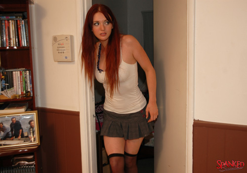 Veronica Ricci is at the door and about to get a spanking