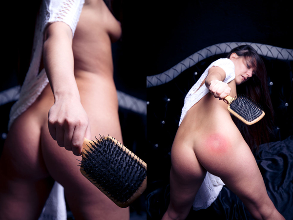 Patricia D self-spanking in Spank at The Life Erotic