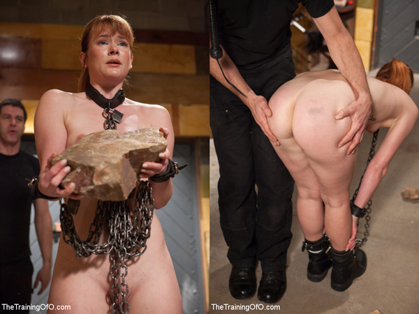 Claire Robbins gets trained and punished in bondage