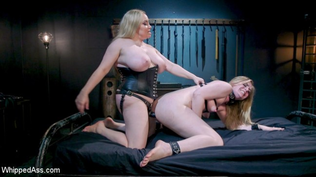 Aiden Starr strapon fucking Dresden's pussy and ass