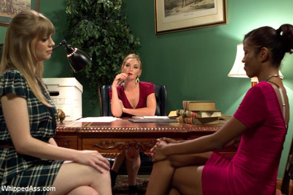 Mona Wales mediates between Lotus Lain and Dolly Leigh in The Girlfriends