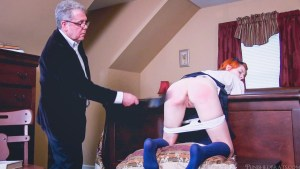 Ava Little's Bare Bottom Strapping
