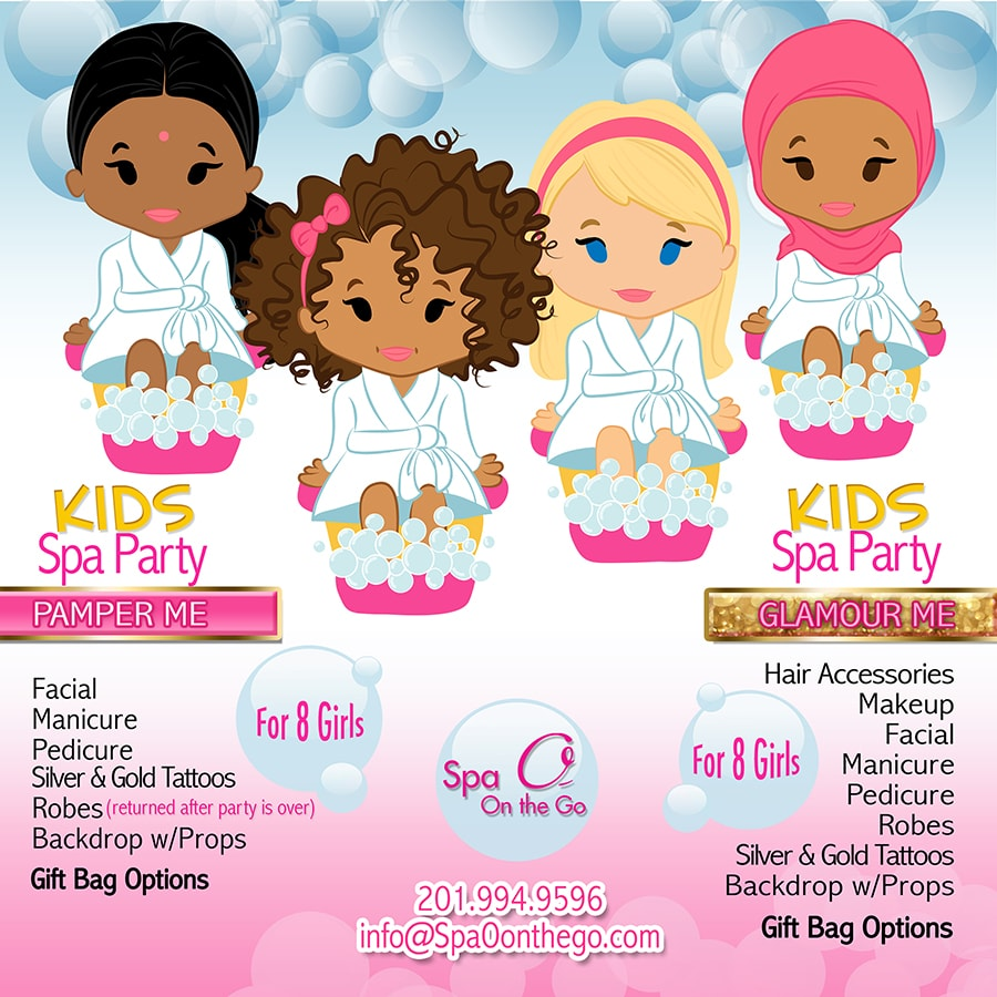 Kids Spa Party  Spa O on the Go