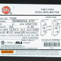 230 Volt Wiring Diagram Pioneer Avic N2 2 Speed 230v 56fr 12.0a 1110014 Spa Pump Motor 56 Frame ...
