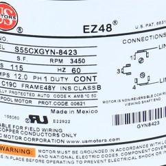 Century Pool Pump Wiring Diagram Treadmill Motor Testing Procedures Waterway 115v 12a One Speed 48fr Bn25, 7j06, 0-177894-24, Lr4642 ...
