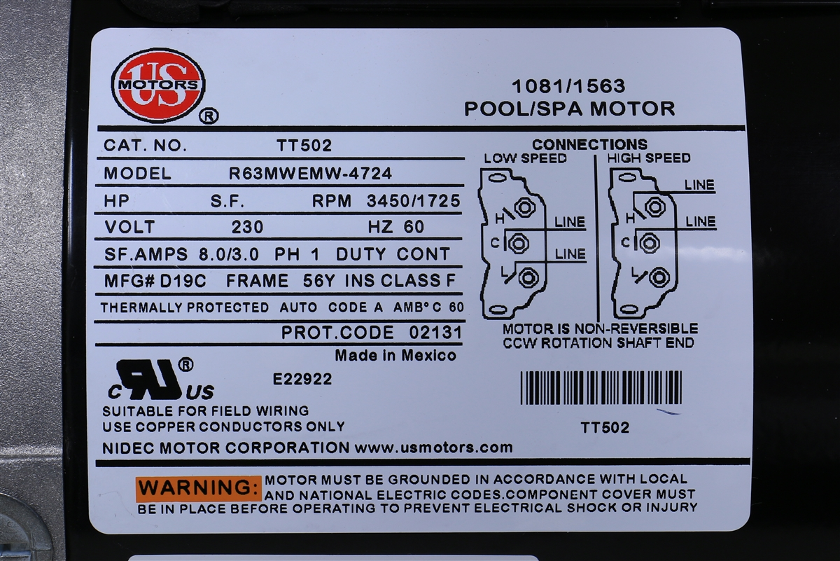 Ac Fan Motor Capacitor Wiring Spa Pump Replacement Puupc2152582f 1015103 Marquis