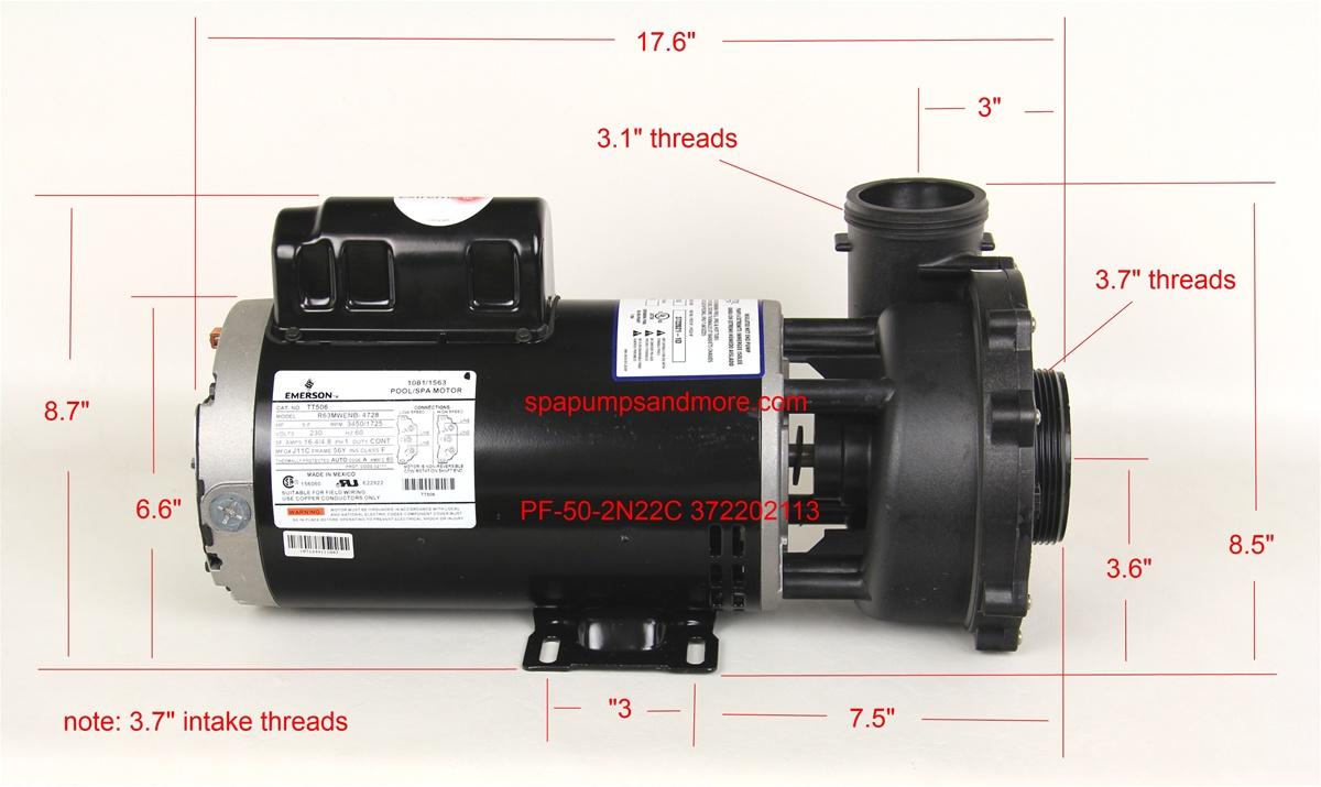 Waterway Pumps Spa Pump 372202113 372202113 P250E52024