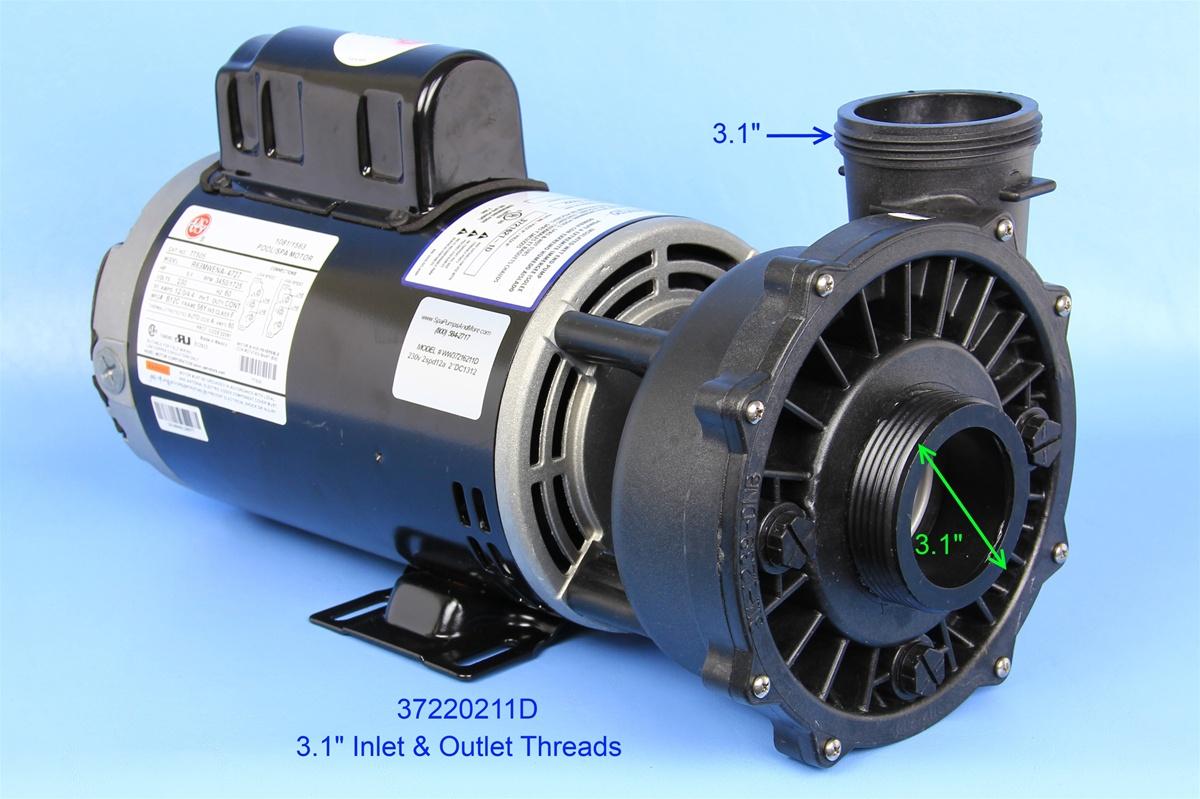 Waterway Pumps Spa Pump 3722021 1D 37220211D P250E52024 PF 50