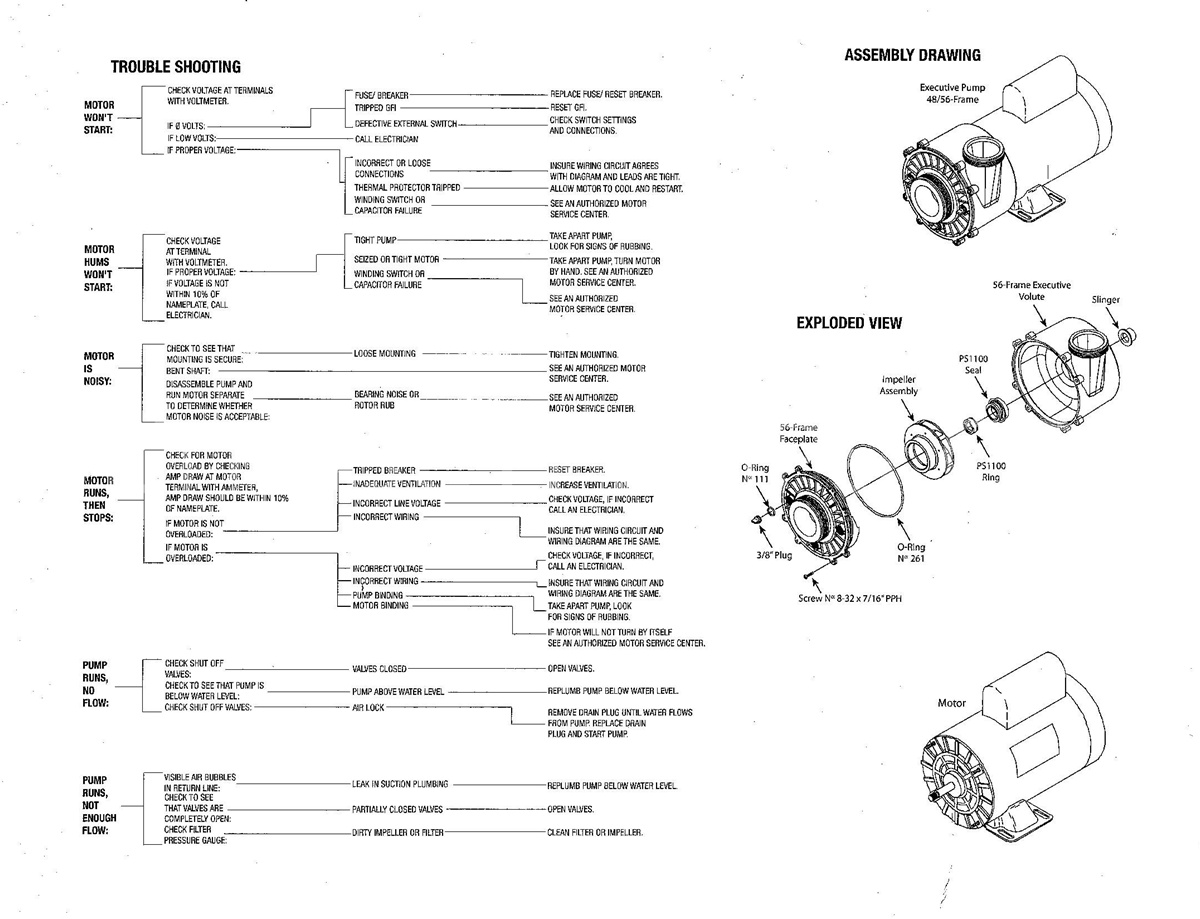 hight resolution of how to trouble shoot spa pump motor waterway rh spapumpsandmore com waterway pool pump parts diagram