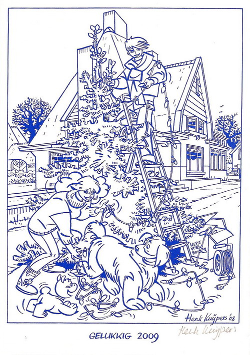 Christmas card by Henk Kuijpers