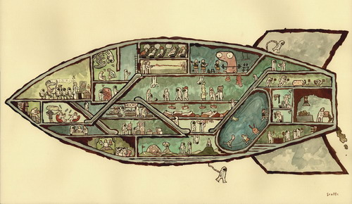 Rocket House by Scott Campbell