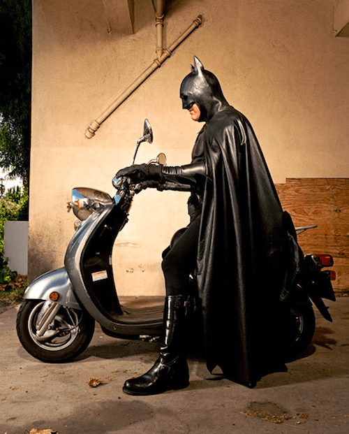Batman on his Bike
