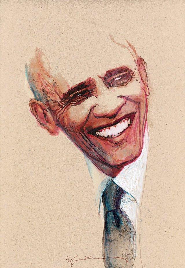President Barack Obama by Bill Sienkiewicz