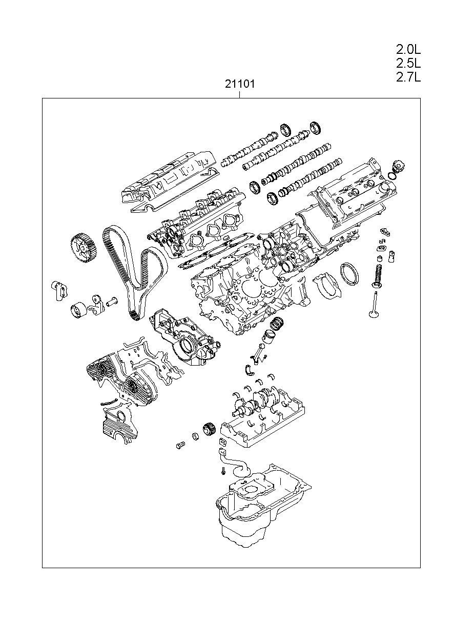 medium resolution of engine assy sub model grandeur xg manufacture hyundai hs your price 3009 25