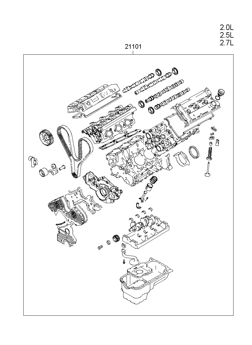 hight resolution of engine assy sub model grandeur xg manufacture hyundai hs your price 3009 25