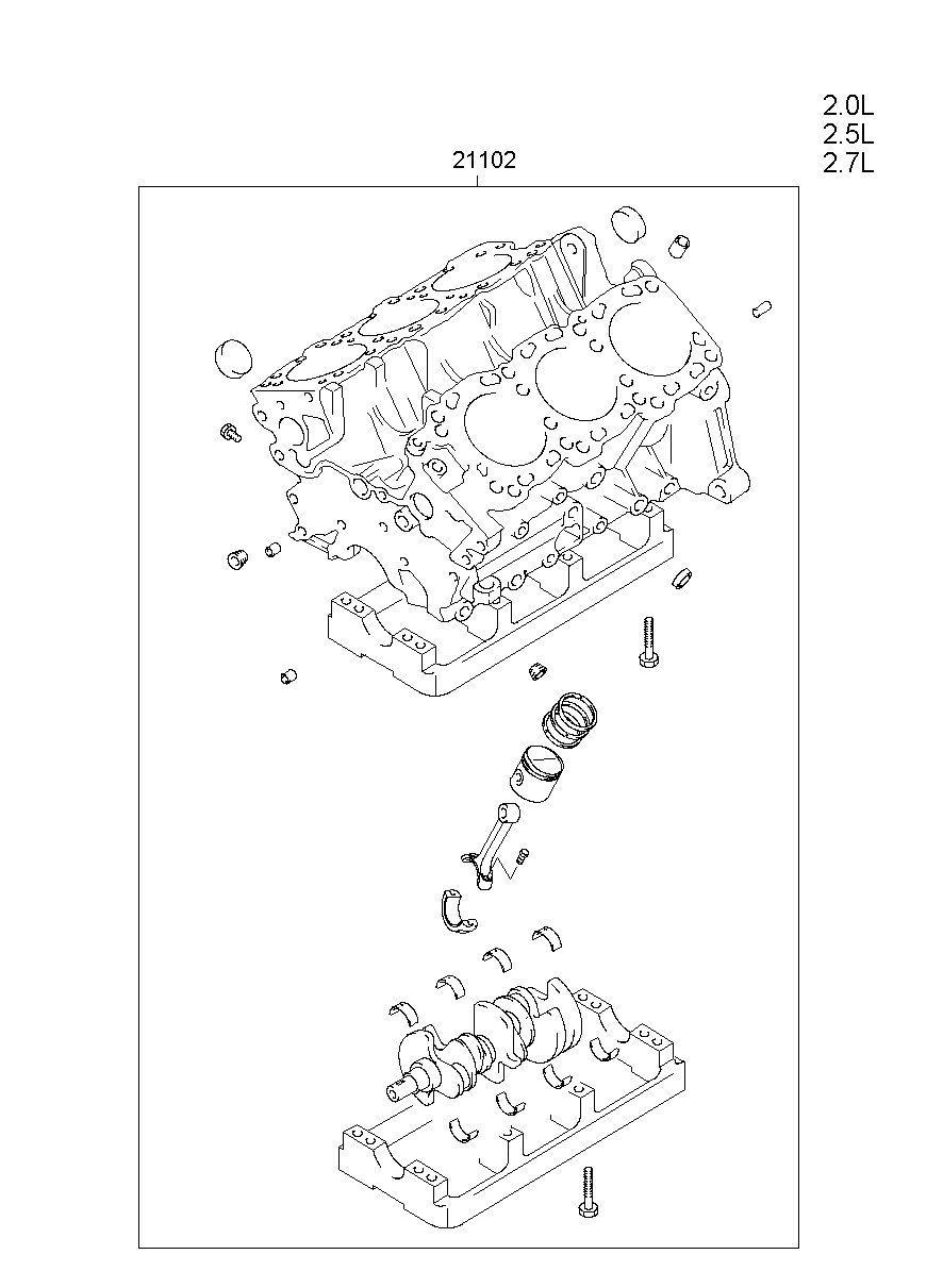 medium resolution of engine assy short model grandeur xg manufacture hyundai hs your price 2596 45